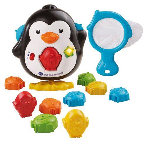 1-2-3 Plouf dans le bain  Compte et plonge avec les pingouins futés de VTech, maman pingouin et ses dix bébés pingouins sont prêts à sauter dans le bain pour une séance de jeu et d'apprentissage! Chaque bébé s'insère aisément à pression dans le bedon de maman pingouin. #renaudbray #bébé #jouet