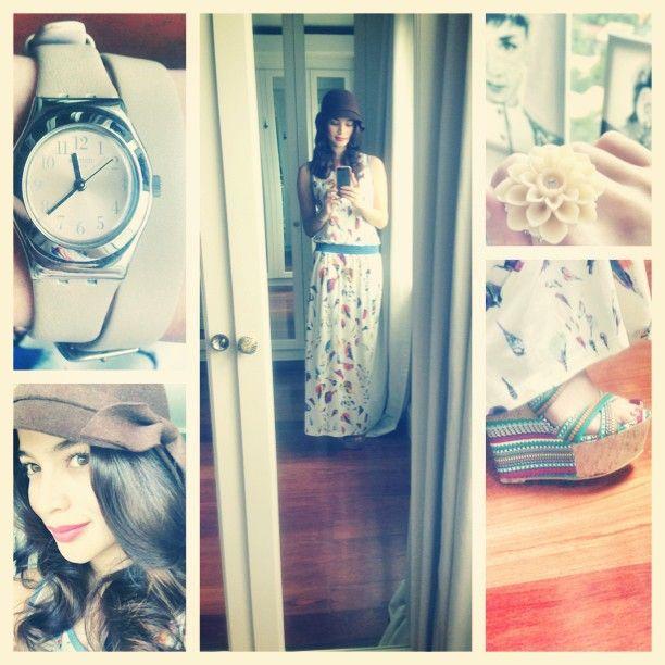 .@Anne Curtis-Smith   Wearing a @Plains & Prints long dress, @SM Accessories felt hat  flower r...   Webstagram - the best Instagram viewer
