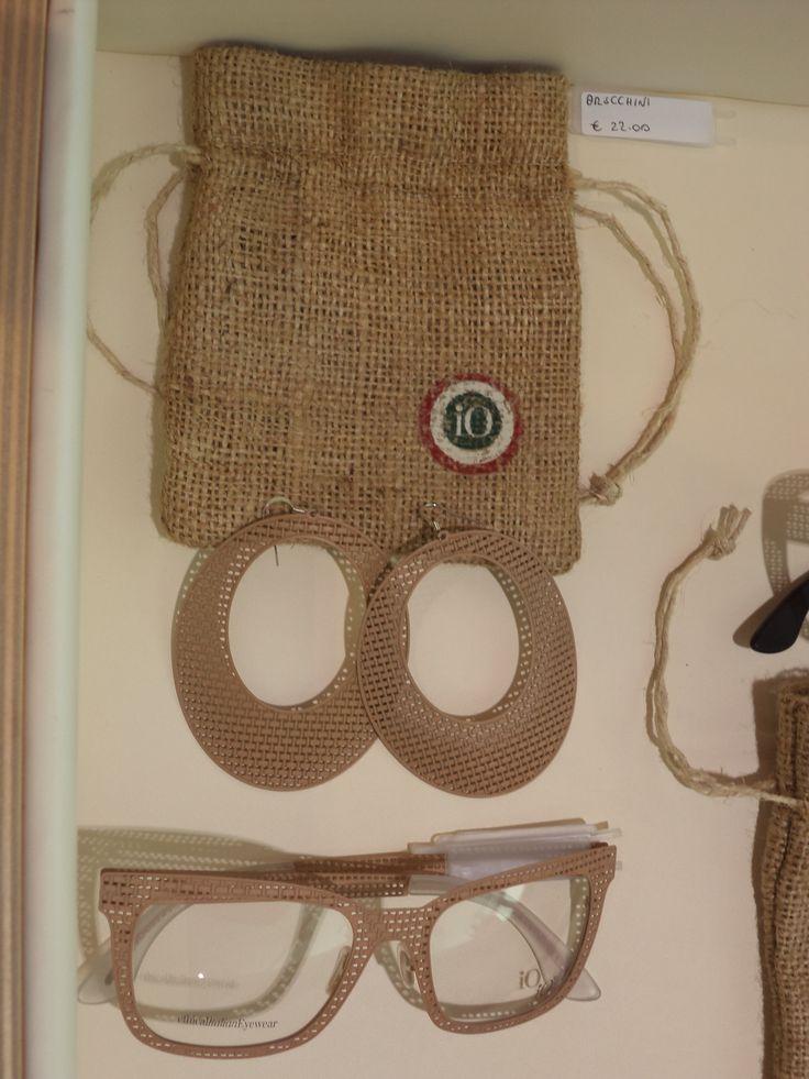 Collezione Iuta ,con orecchini abbinati  #handmade #madeinitaly #eyewear #otrecchini #occhiali #accessori