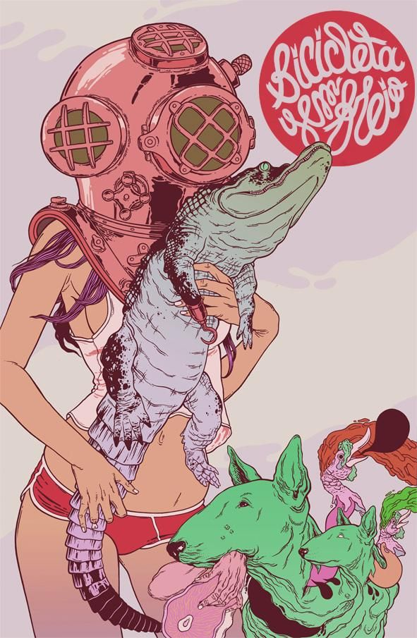 Aquarius tends to like people who are a little on the crazy side. (zodiacchic.com) (Art: Douglas Bicicleta)