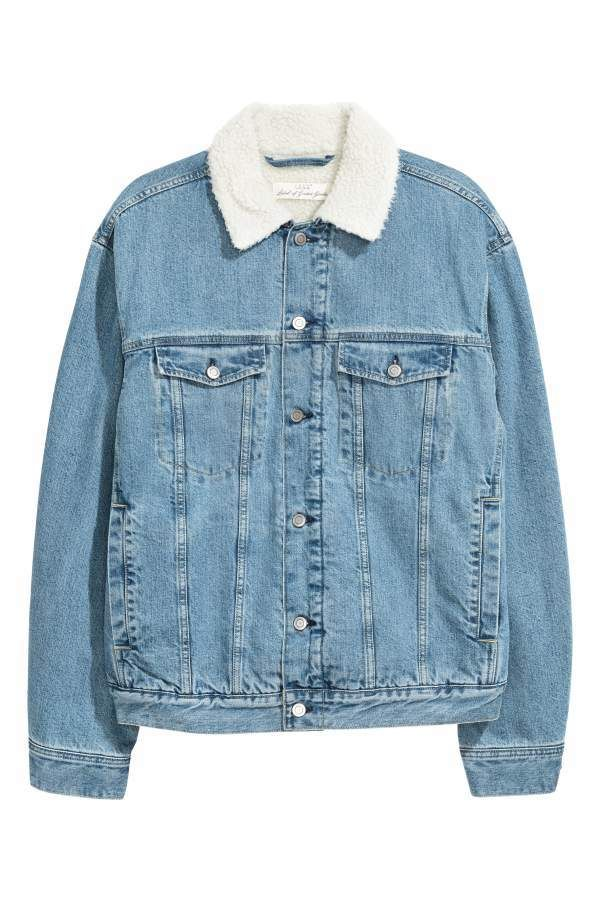 105de00503d4 H&M Pile-lined Denim Jacket | Products | Lined denim jacket ...