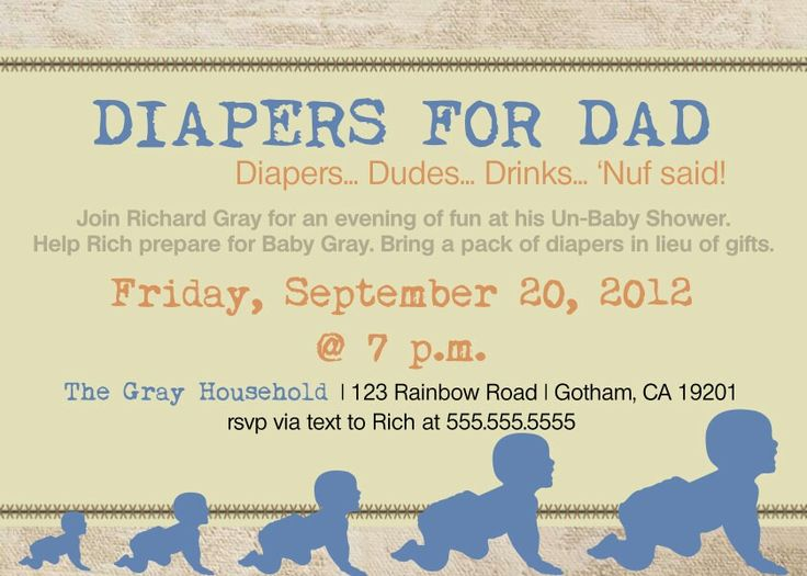 185 best bridal baby showers images on pinterest baby showers daddy diaper baby shower dad shower invitation by diconshadesigns filmwisefo Images