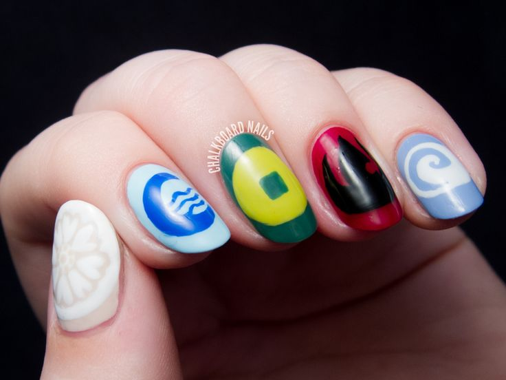 8 best tv show nail art images on pinterest adventure time avatar nation flags by chalkboardnails prinsesfo Gallery