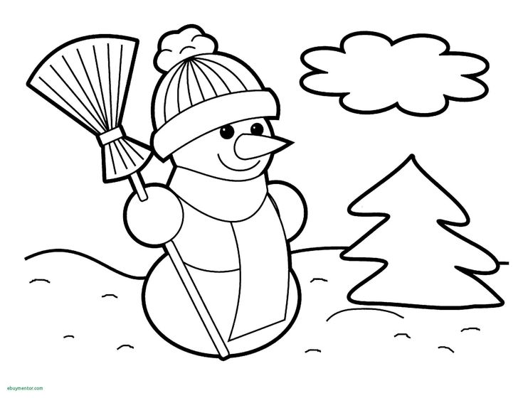 Snowman Nose Coloring Page