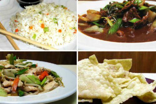 Menú para 2 1 Wantan Frito 1 Carne Mongoliana 1 Chapsui de Pollo 2 Arroz Chaufán