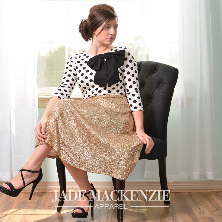 Gold Sequin Skirt www.jademackenzie.com