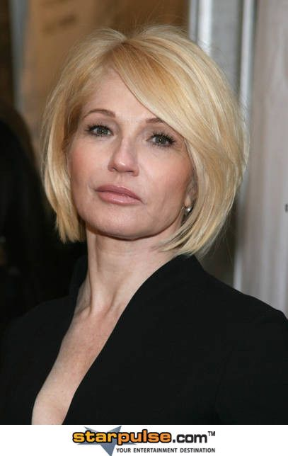 Ellen Barkin with a slightly longer and fuller bob.  Very sexy - love this length on her.