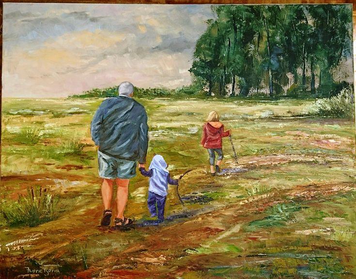 Walking in the field - Flippie Botha