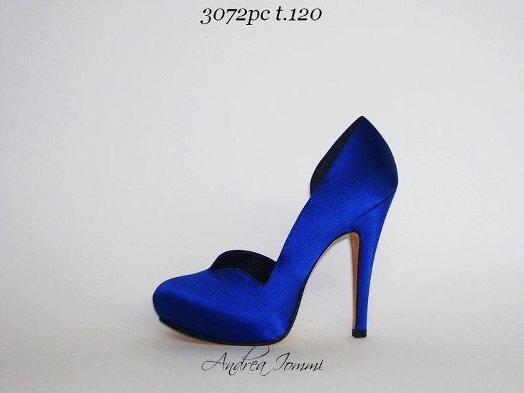 Scarpe Blu Con Tacco Basso