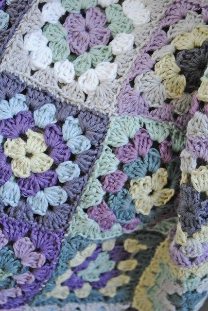 crocheted blanket -