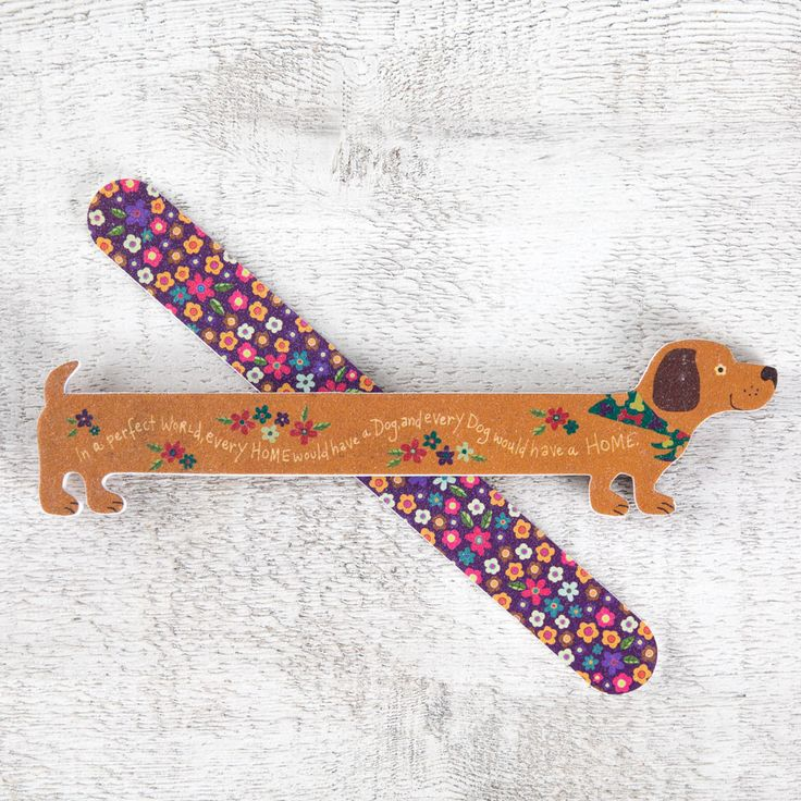 Weenie Dog Emery Board
