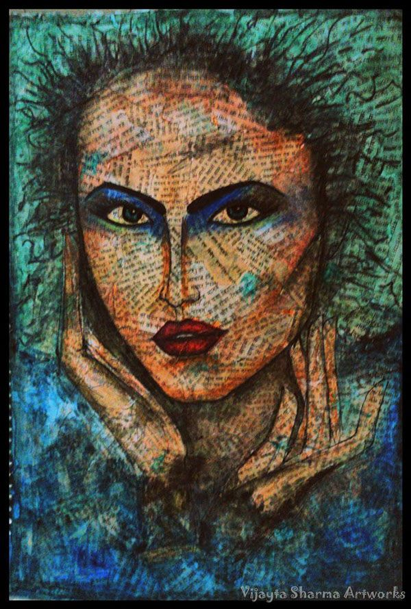 Expressions- Mix media Paintings on Behance #Fashionpaintings #ARTFACES