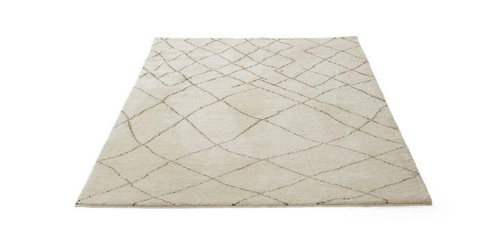 Berber tæppet er inspireret af Marrakesh mønstrerne, men lægger her vægt på et mere tydeligt og grafisk mønster.