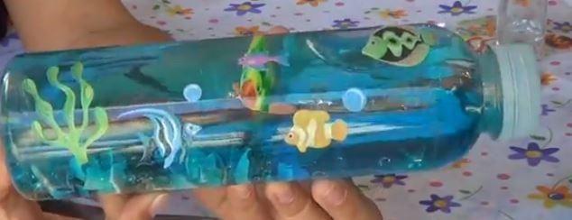 Manualidades infantiles: El mar dentro de una botella