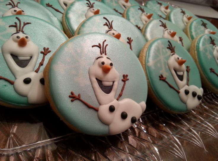 Shimmering Olaf Cookies | Cookie Connection