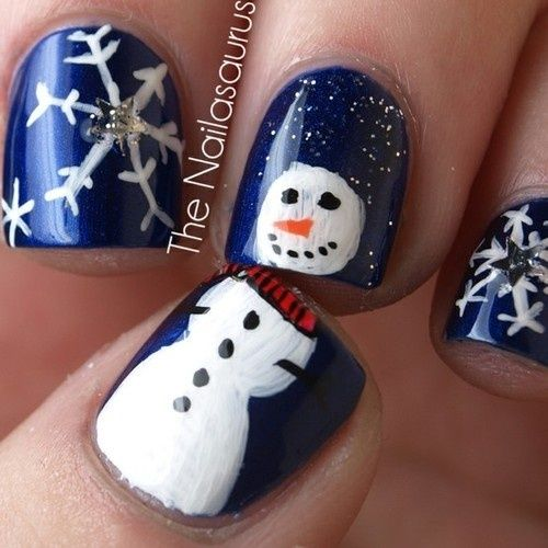 Snowman Nail Art Tutorial: 17 Best Images About Christmas Nails On Pinterest