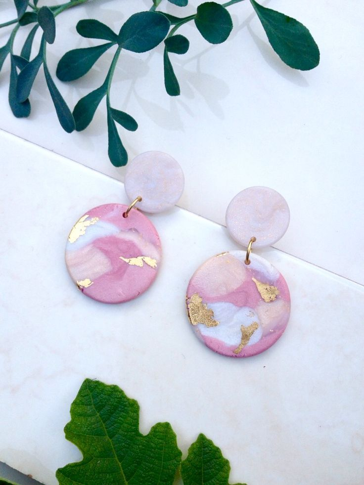 Polymer clay earrings by Mickoland Design – #clay #Design #Earrings #Mickoland #…