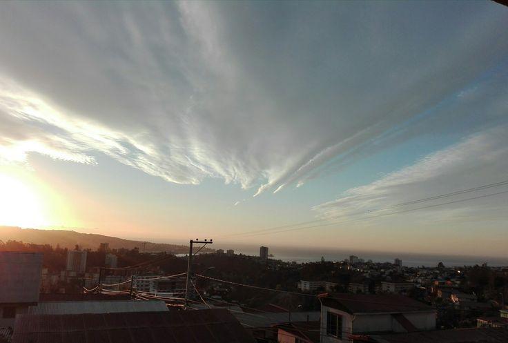 Atardecer,Valparaiso,Chile.