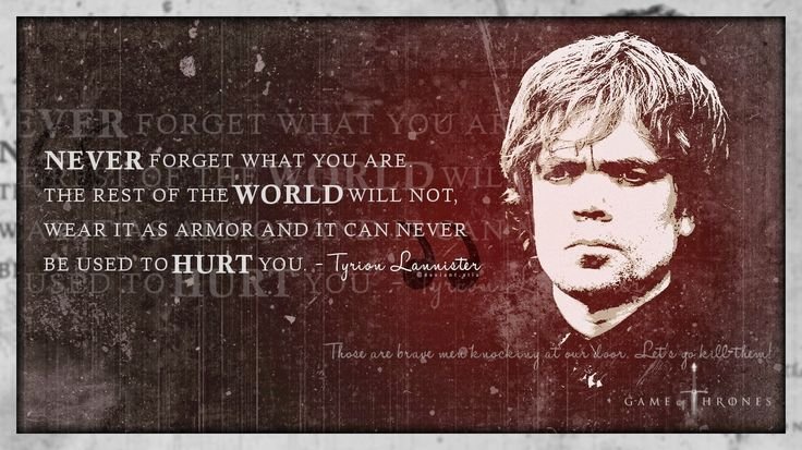 #GameOfThrones Tyrion Lannister Quote