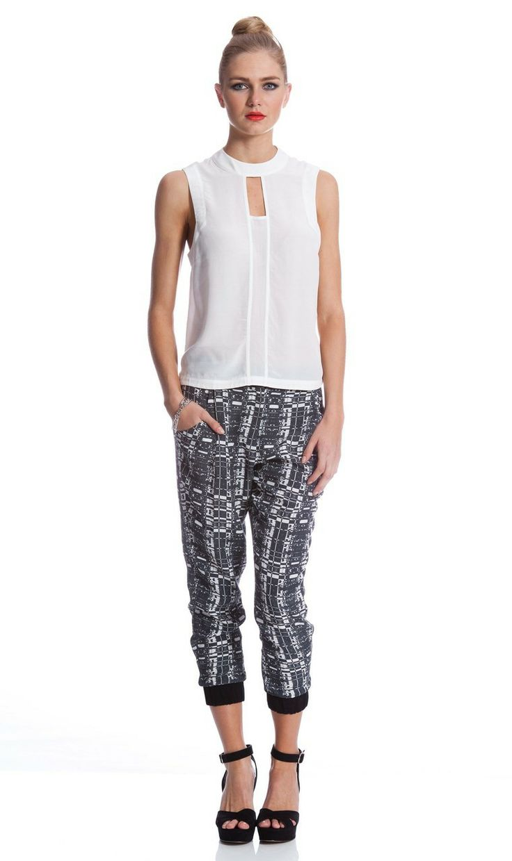 AlibiOnline - Tetris Pant by WHITNEY PORT for COOPER ST, $129.95 (http://www.alibionline.com.au/tetris-pant-by-whitney-port-for-cooper-st/)