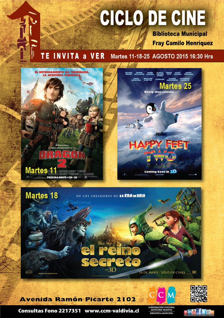Ciclo de Cine Agosto Biblioteca Municipal valdivia