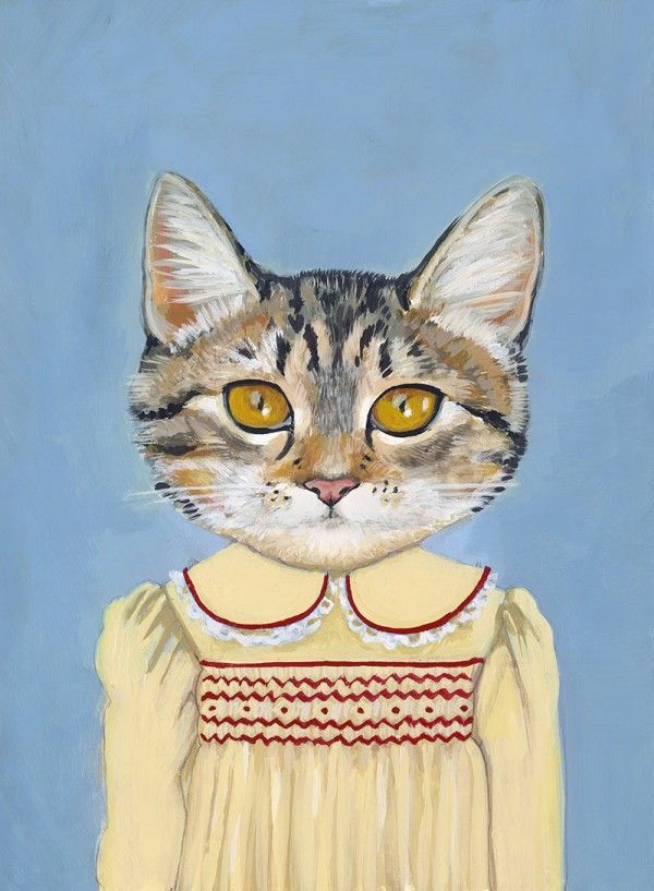 Enviable style: Cat Art, Friends, Cat In Clothing, Funny Cat, Art Prints, Cats In Clothes, Heather Mattoon, Painting, Families Portraits