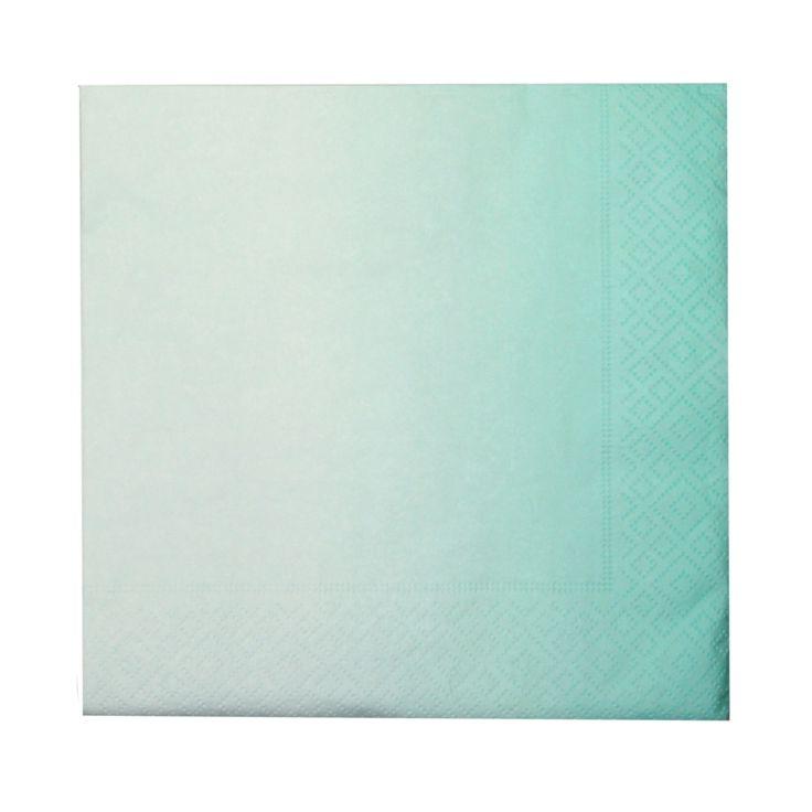 Servietter Gradient mint