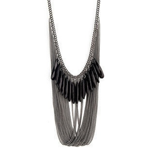 The large Diamond Necklaces vintage big Black tassels necklace fashion charm costume fashion jewelry, $17.59