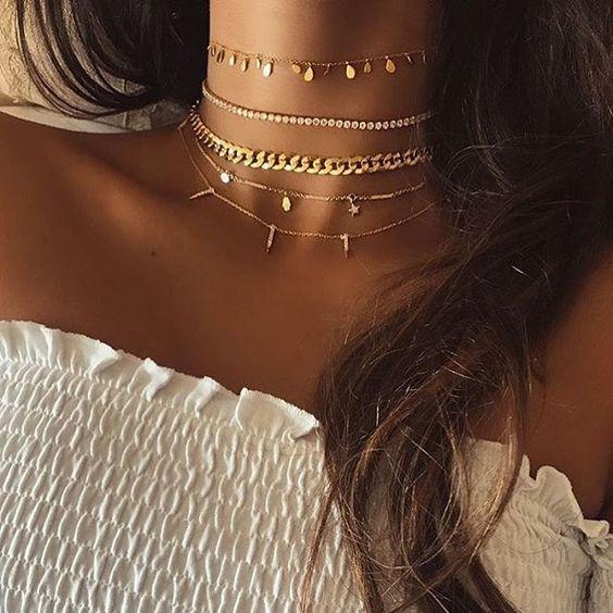 Golden details.