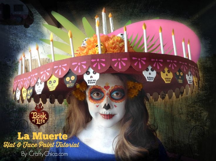 La Muerte hat and face paint tutorial, inspired by The #BookofLife movie!