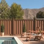 Trex Seclusions 6 ft. x 8 ft. Saddle Brown Wood-Plastic Composite Board-On-Board Privacy Fence Panel Kit-SDPFK68 - The Home Depot