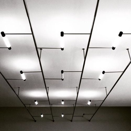 bauhaus-movement:Walter Gropius Lights at Bauhaus Dessau