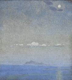 Παρθένης Κωνσταντίνος (1878/1879 - 1967) Τοπίο, πριν το 1903 Λάδι σε μουσαμά , 75,7 x 71 εκ. Αρ. έργου: Π.8874