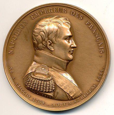 Médaille gravée en 1840 par Caqué pour le retour des cendres de l'Empereur, bronze 52mm