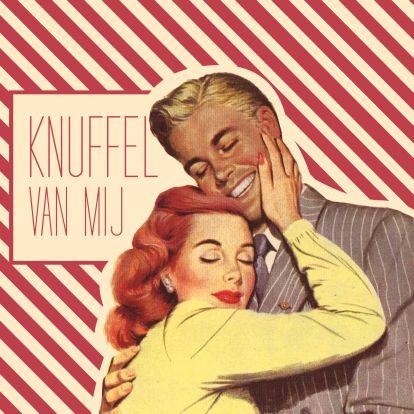 ♥Kaartje2go - Valentijnskaarten - Vintage Knuffel van mij