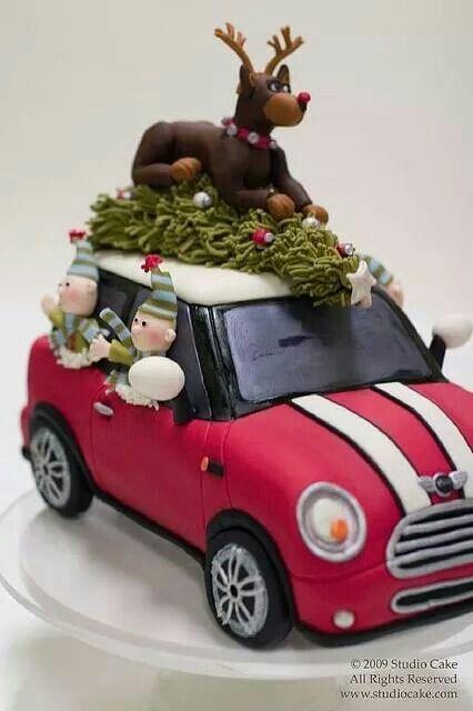 Weihnachtsauto Kuchen