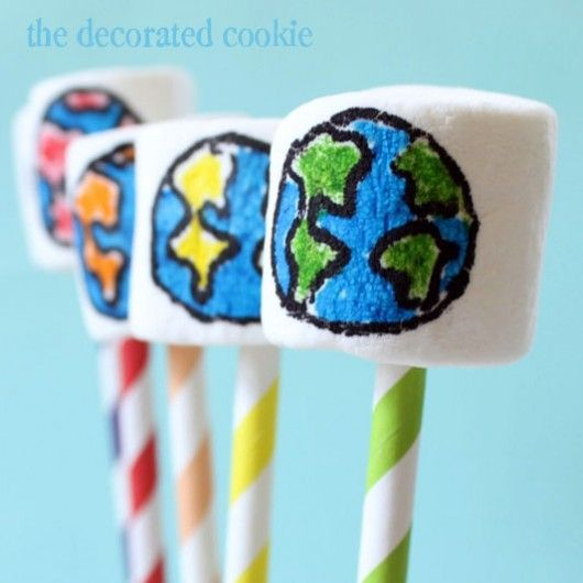 edible marshmallow crafts for any occasion.  Use edible markers.