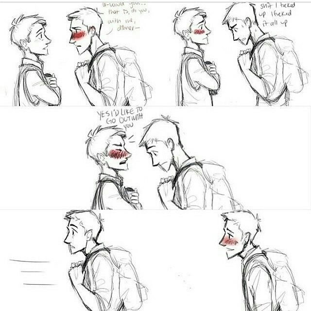 Destiel comics >> Dean's face in the last panel