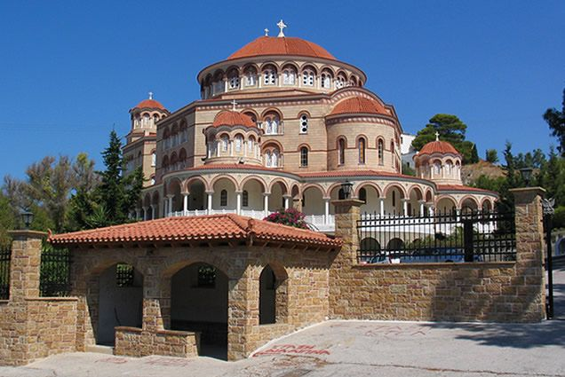 The monastery of Agios Nektarios - Aegina island
