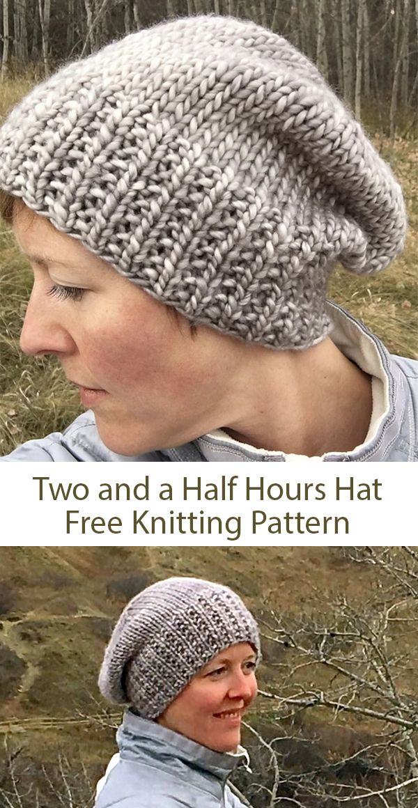 3a45c9cb31b Free knitting pattern for Two and a Half Hours Hat