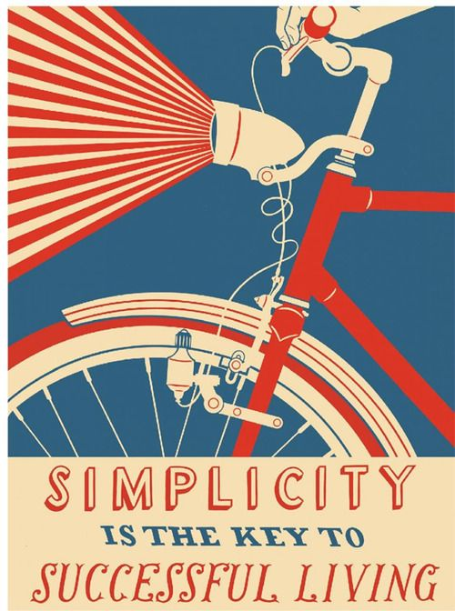 Nick Dewar Illustration 'Simplisity Is The Key to Successful Living'