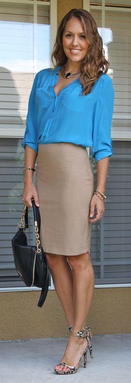 Shirt: Victoria's Secret  Skirt: Limited, $30 Shoes: Calvin Klein Purse: Michael Kors, Necklace: INPINK, $30 Bracelets: C.Wonder, Stella & Dot 1, 2, 3 Rings: Stella & Dot, $39