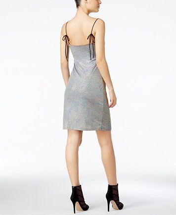 4f368354a6b GUESS Ziggy Metallic Slip Dress
