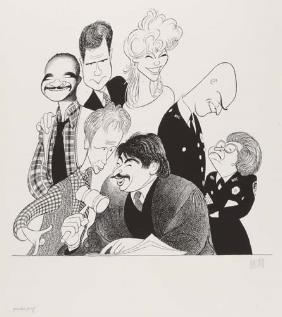 "Al Hirschfeld ~ ""Night Court"""