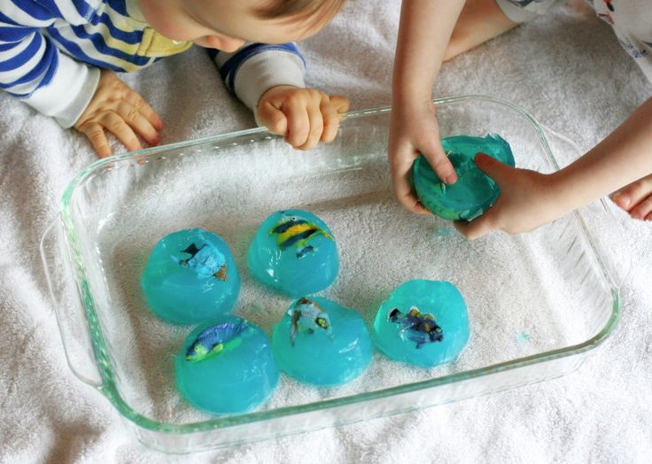 fun at home with kids gelatin play