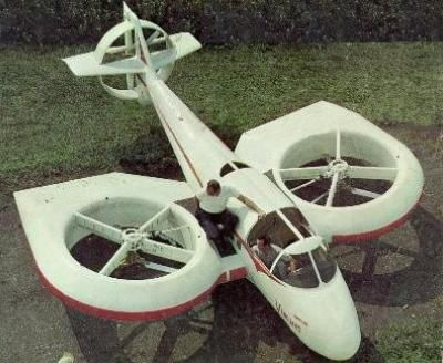 Vanguard Model 2C Omniplane. A V/STOL craft with a fan-in-wing design. Built by Vanguard Air & Marine Corporation. Power comes from a 265hp Lycomming 0-540-A1A rear engine.