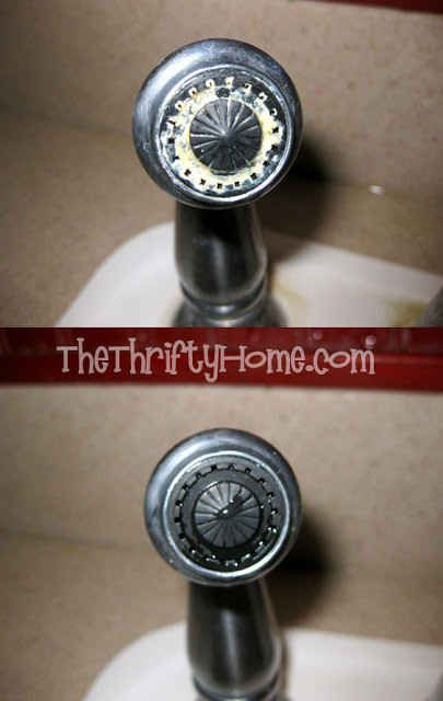 16. De-scale your faucets with the help of some paper towels and vinegar.