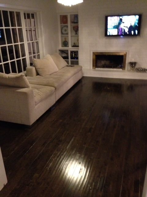 Beautiful Dark Brown Distressed Timber Floating Floor