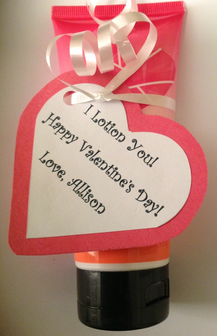 Cute Valentine's Day gift for friends, teachers, and co-workers...just ...