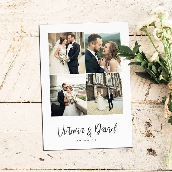 Wedding Thank You Cards With Photo